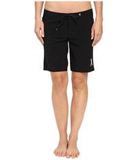 Hurley Phantom Solid 9 Beachrider Boardshorts Black Women's Swimwear