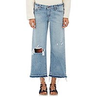 Simon Miller Women's W005 Crop Jeans Blue