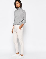 Selected Muse Cropped Skinny Pants Silver Peony