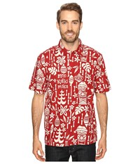 Quiksilver Yuletide Mirth True Red Men's Short Sleeve Button Up