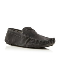 Dune Furlong Faux Fur Lined Driver Slippers Grey