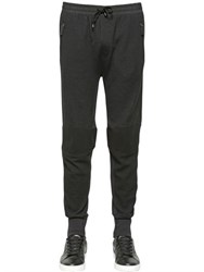 Dolce And Gabbana Stretch Wool Blend Biker Jogging Pants