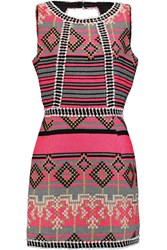 Milly Neon Woven Mini Dress Pink