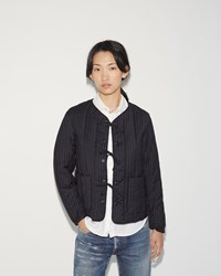 Fwk Engineered Garments Liner Jacket Navy Stripe