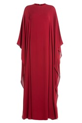 Valentino Floor Length Silk Gown Red