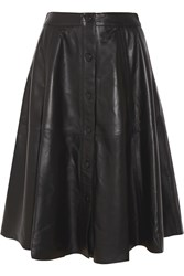 Iris And Ink Francesca Leather Midi Skirt