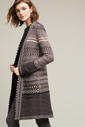 Anthropologie Katy Sweater Coat Black And White