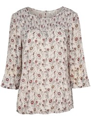 Fat Face Bella Trailing Poppies Blouse Ivory