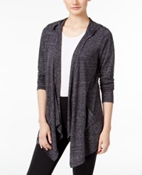 Styleandco. Style Co. Hooded Open Front Cardigan Only At Macy's Black Combo