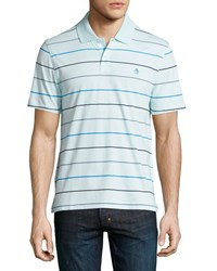 Penguin Striped Polo Shirt Crystal Blue