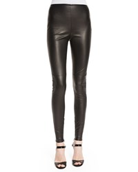 Ralph Lauren Collection Stretch Leather Leggings Black