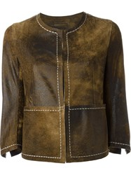 Sylvie Schimmel Exposed Seam Jacket Brown