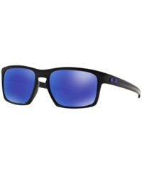 Oakley Sunglasses Oakley Oo9262 57 Sliver Black Matte Purple Polar