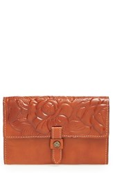 Patricia Nash Women's 'Colli' Leather Flap Wallet Brown Florence