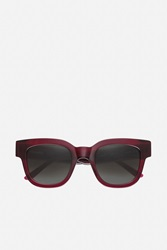 Sun Buddies Type 05 Sunglasses Rosewood Red