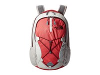 The North Face Women's Jester Calypso Coral Emboss Deep Garnet Red Backpack Bags Beige