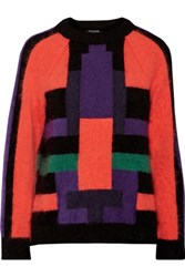 Balmain Color Block Wool Blend Sweater Multi