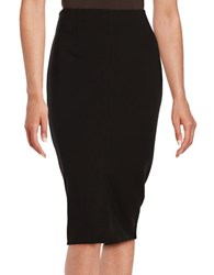 Lord And Taylor Front Slit Ponte Pencil Skirt Black
