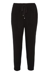 Splendid Cropped Twill Tapered Pants Black