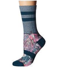Stance Go East Classic Crew Teal Women's Crew Cut Socks Shoes Blue