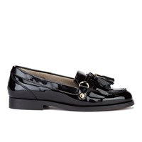 H Shoes By Hudson Women's Britta Patent Tassle Loafers Black