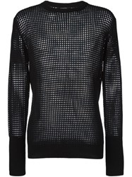 Unconditional Mesh Long Sleeved T Shirt Black