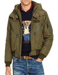 Polo Ralph Lauren Flight Bomber Jacket Canyon Olive