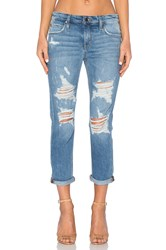 Joe's Jeans Mazie Collector's Edition The Billie Crop Medium And Light Blue Distressed
