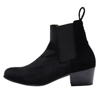 Selected Femme London Block Heeled Ankle Boots Black