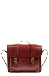 Dr. Martens 15 Inch Leather Satchel Cherry Red