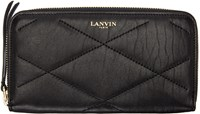 Lanvin Black Leather Long Wallet