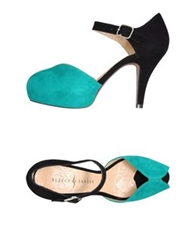 Rebeca Sanver Platform Sandals Turquoise