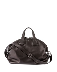 Givenchy Nightingale Medium Waxy Leather Satchel Bag Black