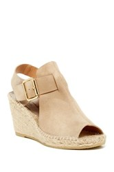 Bettye Muller Dawn Suede Woven Wedge Gray