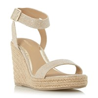 Head Over Heels Kallisto Two Part Espadrille Wedges Gold