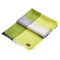 Joules Berkley Check Print Scarf Lime