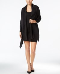 Inc International Concepts Geo Jacquard Wrap Only At Macy's Black