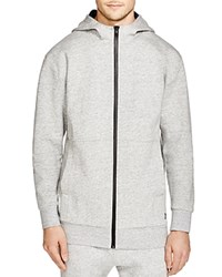 Zanerobe Foam Long Zip Hoodie Grey Marl