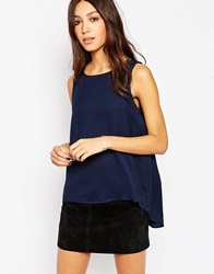 Minimum Sleeveless Boxy Top 683Twilightblue