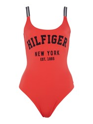 Tommy Hilfiger Clio Bathing Suit Coral