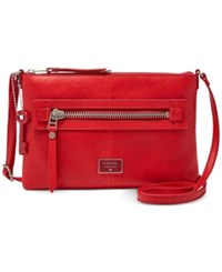Fossil Dawson Leather Crossbody Real Red