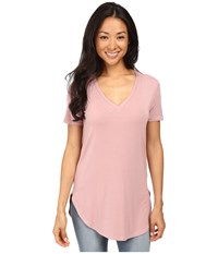 Culture Phit Preslie Cap Sleeve Modal V Neck Top Mauve Women's Clothing Neutral