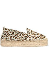 Manebi Leopard Print Pony Hair Espadrilles Animal Print