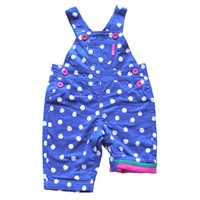 Toby Tiger Blue Dot Dungarees