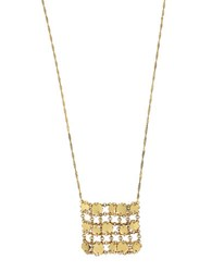 Diane Von Furstenberg Summer Disco Circle Mesh Chain Pendant Necklace Gold