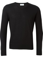 Ballantyne V Neck Pullover Black