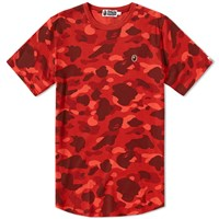 A Bathing Ape Colour Camo Long Length Tee Red