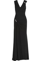Versace Crystal Embellished Stretch Crepe Gown