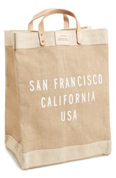 Apolis City Market Tote Beige San Francisco