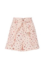 Rebecca Taylor Mia Floral Print Belted Short Pink